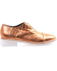 Amelie Pichard Coco Metallic Leather Brogues - Lyst
