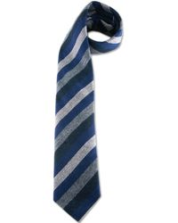 Black.co.uk - Blue Grey White and Black Cashmere Tie - Lyst