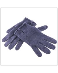 Black.co.uk Blackberry Cashmere Gloves With Button Detail - Lyst