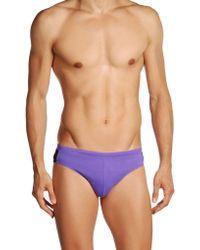 Calvin Klein Purple Brief Trunks - Lyst