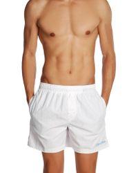 Calvin Klein White Swimming Trunks - Lyst