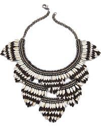 Deepa Gurnani | Layered Petal Necklace | Lyst