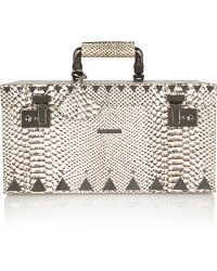 Eddie Borgo - Snake effect Leather and Gunmetal Jewelry Box - Lyst