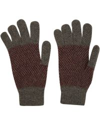 Howlin' By Morrison - Charcoal Castro Wool Gloves - Lyst