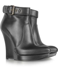 McQ - Black Biker Slimwedge Boot - Lyst