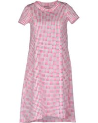 Rose' A Pois Short Dress - Lyst
