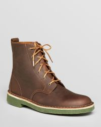 Clarks - Desert Mali Leather Boots - Lyst