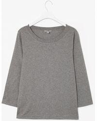 Cos Three Quarter Sleeved T-Shirt - Lyst