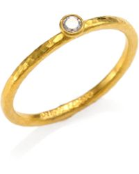 Gurhan Delicacies Diamond & 24K Yellow Gold Skittle Stacking Ring - Lyst