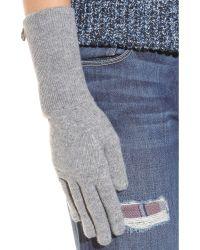 Jardin Des Orangers Cashmere Gloves - Gray