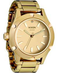 Nixon Camden Gold Tone Stainless Steel Watch - Lyst