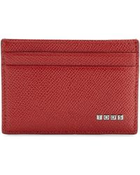 Tod's Leather Credit Card Case & Money Clip - Lyst