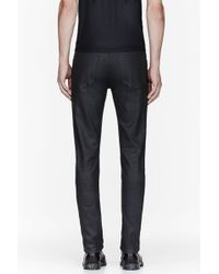 CALVIN KLEIN 205W39NYC - Black Waxed Denim Serge Jeans - Lyst