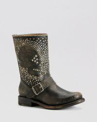 Frye - Boots - Jenna Skull Stud - Lyst