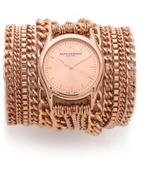 Sara Designs   All Chain Wrap Watch   Lyst