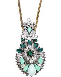 Shourouk Crystal Pendant Necklace - Lyst