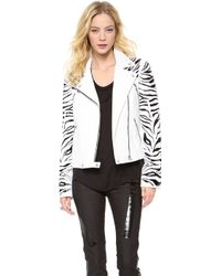Versace Leather Motorcycle Jacket - Lyst