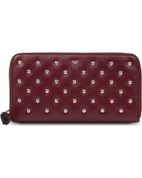 Anya Hindmarch Joss Studded Leather Wallet - Lyst