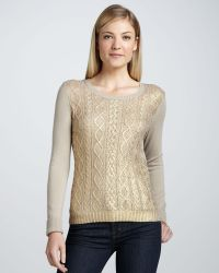 Christopher Fischer Goldfoilfront Cashmere Sweater - Lyst