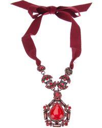 Lanvin Gem Stone Pendant Necklace - Lyst