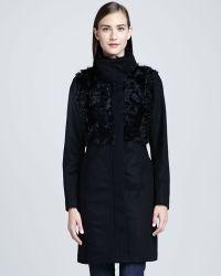 Trina Turk Anna Mixedmedia Fur Coat - Lyst