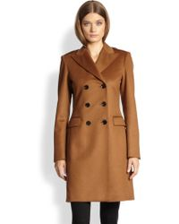 Burberry Double-breasted Cashmere Coat - Lyst