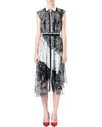 Preen By Thornton Bregazzi Sleeveless Leaf Print Dress - Lyst