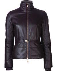 Versace Purple Puffer Jacket - Lyst