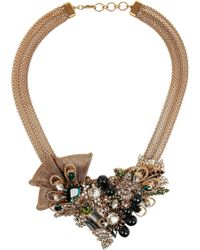 Bijoux Heart | Empire Goldplated Swarovski Crystal Necklace | Lyst