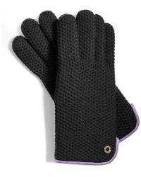 COACH Honeycomb Knit Gloves
