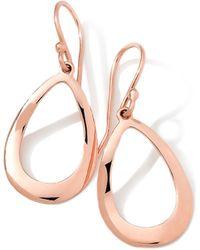 Ippolita 18k Rose Gold Smooth Openteardrop Earrings - Lyst