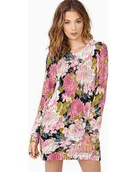 Nasty Gal English Garden Knit Dress - Lyst