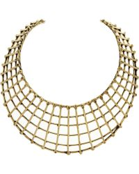 Anndra Neen - Gold Tone Cage Necklace - Lyst