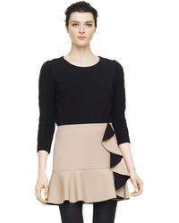 Club Monaco Bria Cabled Sleeve Knit Top - Lyst