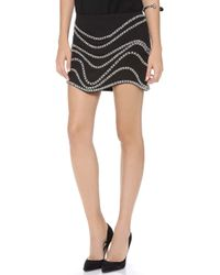Jay Ahr - Chain Embroidered Miniskirt - Lyst