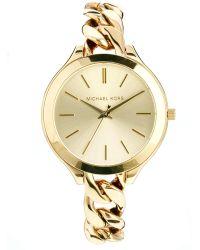 Michael Kors Slim Runway Gold Watch - Lyst