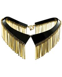 Zelia Horsley Jewellery Golden Crystal Collar - Lyst