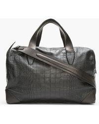 Alexander Wang - Black Croc Embossed Leather Wallie Duffle Bag - Lyst