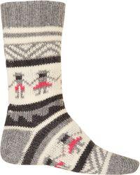 Folk | Grey People Knit Socks | Lyst
