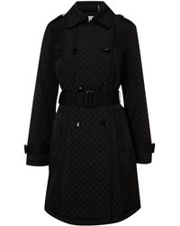 Kenneth Cole - Quilted Coat with Belt - Lyst