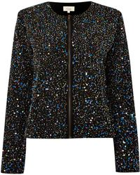 Linea Weekend Sequin Bomber Jacket - Lyst