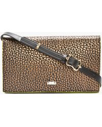 McQ by Alexander McQueen Bronze Bubbled Leather Neon_trimmed Clutch - Lyst