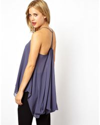 Asos Cami with Drape Back - Lyst