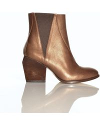 Atalanta Weller - Boramir Metallic Tan Ankle Boots By - Lyst