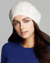 C By Bloomingdale's - Cashmere Cable Beret - Lyst