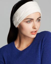 C By Bloomingdale's | Cashmere Cable Headband | Lyst