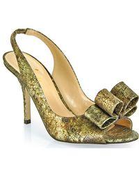 Kate Spade Charm - Peep Toe Sandal - Lyst