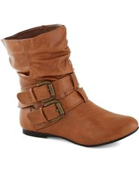 ModCloth | Spruce Up Your Style Boot in Caramel | Lyst