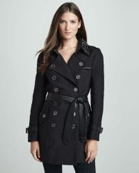 Sam Edelman - Belted Trench with Studded Collar - Lyst