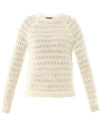 Tibi Honeycomb Knit Sweater - Lyst